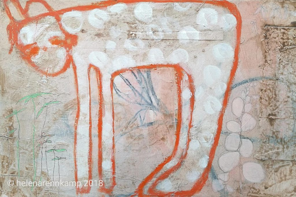 still standing // garden // 2018 // Acryl & Mixed Media auf Leinwand // 40 x 60