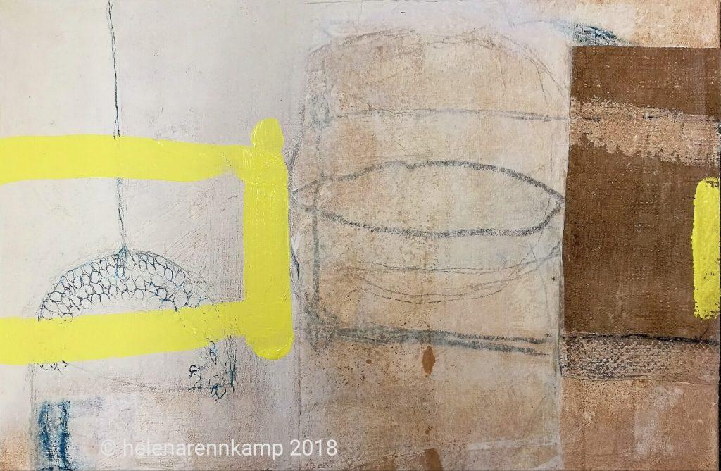 yellow gate // garden // 2018 // Acryl & Mixed Media auf Leinwand // 40 x 60