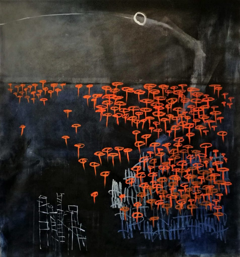 long way home // letters to universe // 2017 // Öl & Acryl auf Leinwand // 160 x 180
