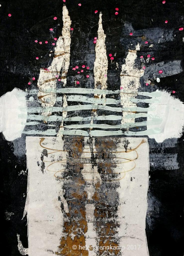 letters to universe // 2017 // Gauache & Tusche auf Papier // 50 x 70