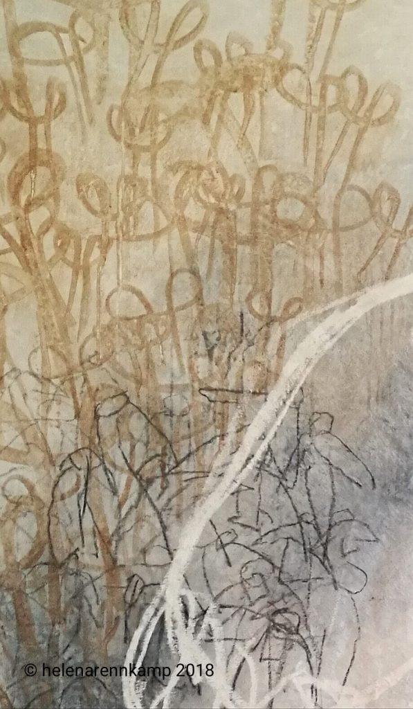 délivrance – Erlösung (Detail) // délivrance // 2018 // Öl & Acryl auf Leinwand // 160 x 180