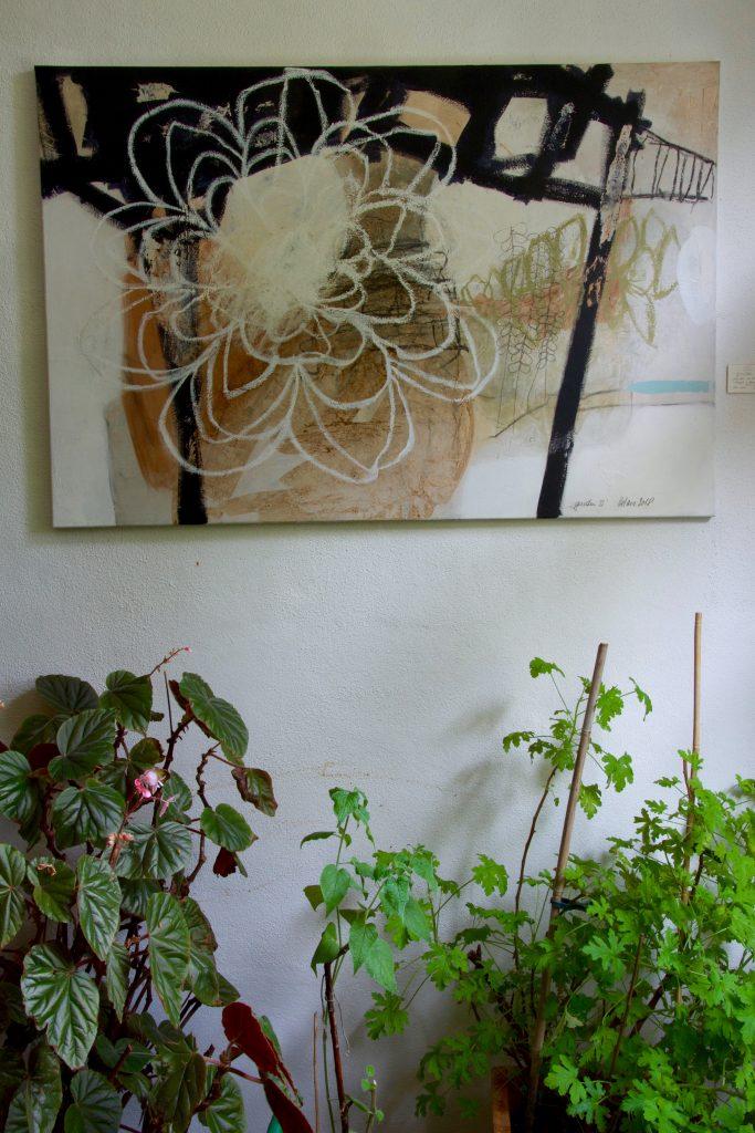 garden under the bridge // garden // 2018 // Öl & Acryl auf Leinwand // 80 x 120