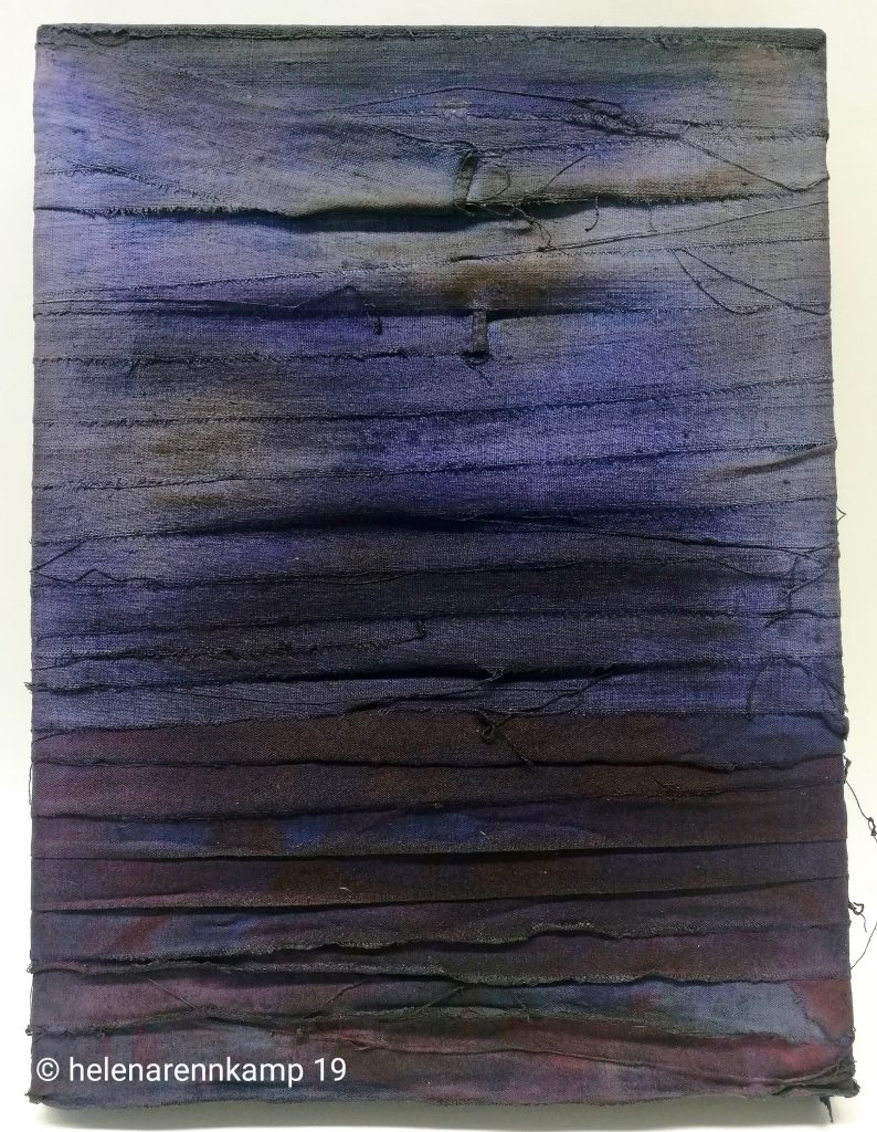 underwater // sense memory // 2019 // Leinen & Tusche auf Leinwand // 30 x 40