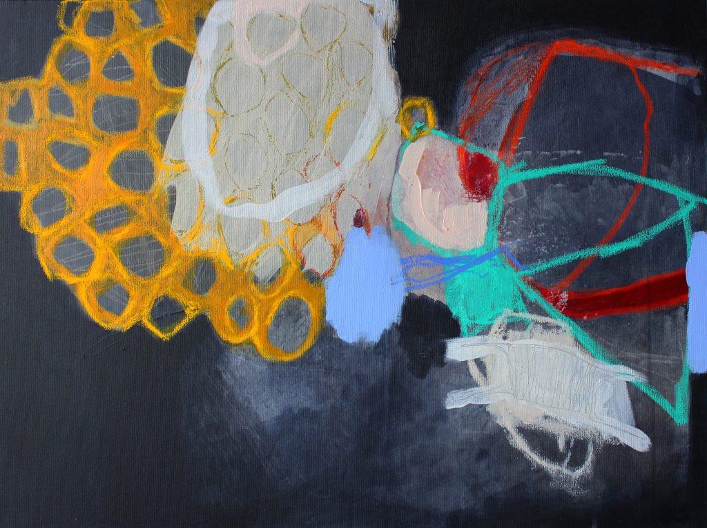 don't stop breathing // garden // 2019 // Öl & Acryl auf Leinwand // 60 x 80
