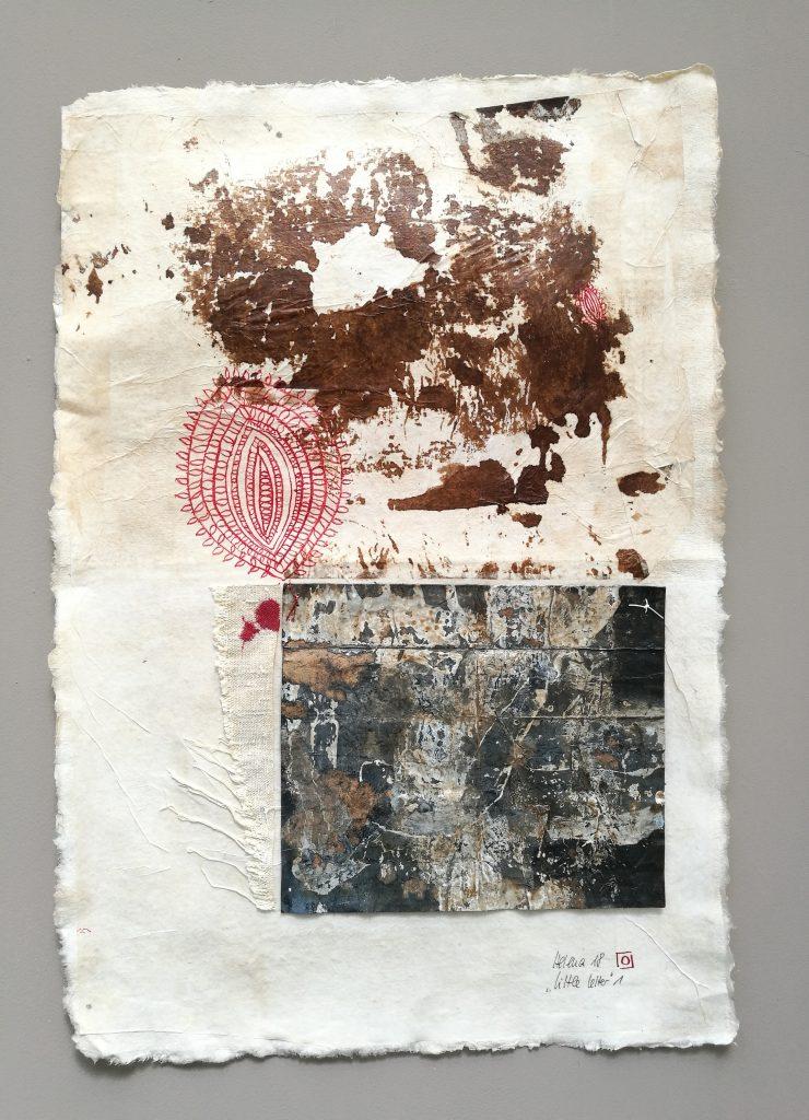 little letter 1 // letters to universe // 2018 // Tusche auf Papier auf Bütten // 30 x 50