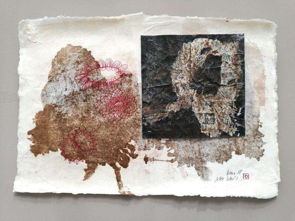 little letter 2 // letters to universe // 2018 // Tusche auf Papier auf Bütten // 30 x 50
