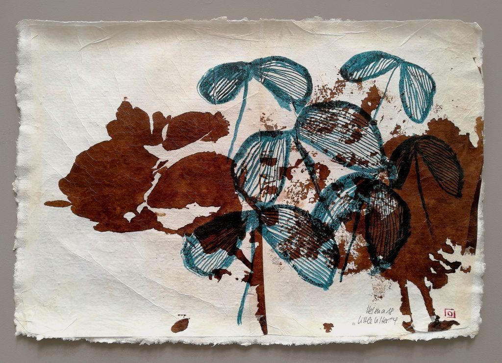 little letter 4 // letters to universe // 2018 // Tusche auf Papier auf Bütten // 30 x 50