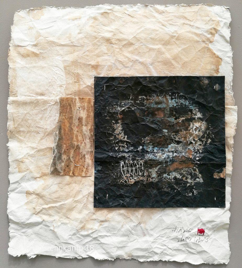 little letter 5 // letters to universe // 2018 // Tusche auf Papier auf Bütten // 30 x 50