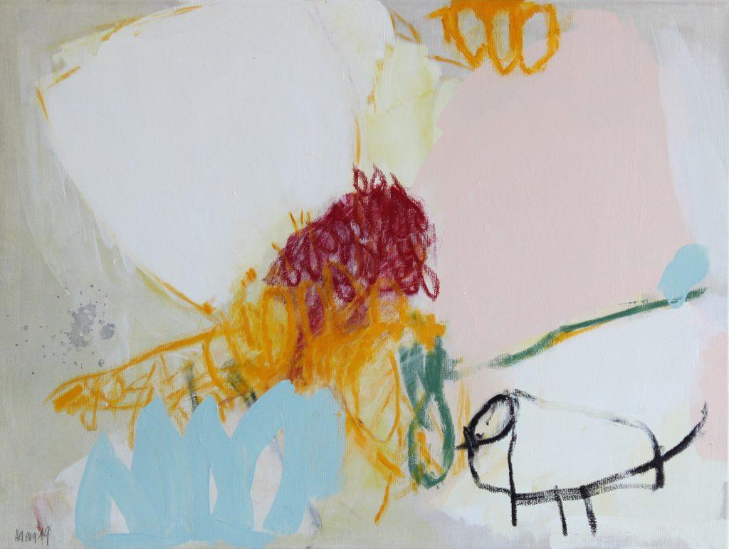 little yellow // garden // 2019 // Öl & Acryl auf Leinwand // 60 x 80