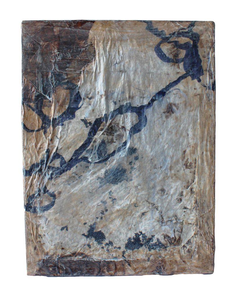 memory box 3 o.T. – back // sense memory // 2019 // Papier & Tusche auf Holzkörper // 18 x 24