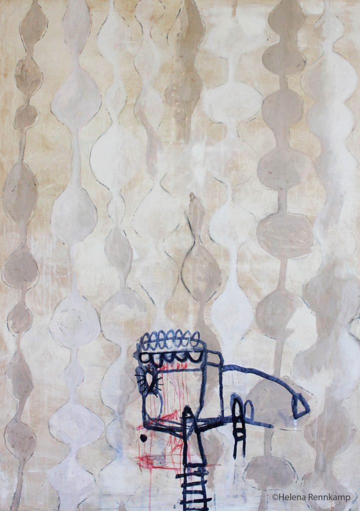 my grandmothers wallpaper // sense memory // 2019 // Öl & Acryl auf Leinwand // 100 x 140