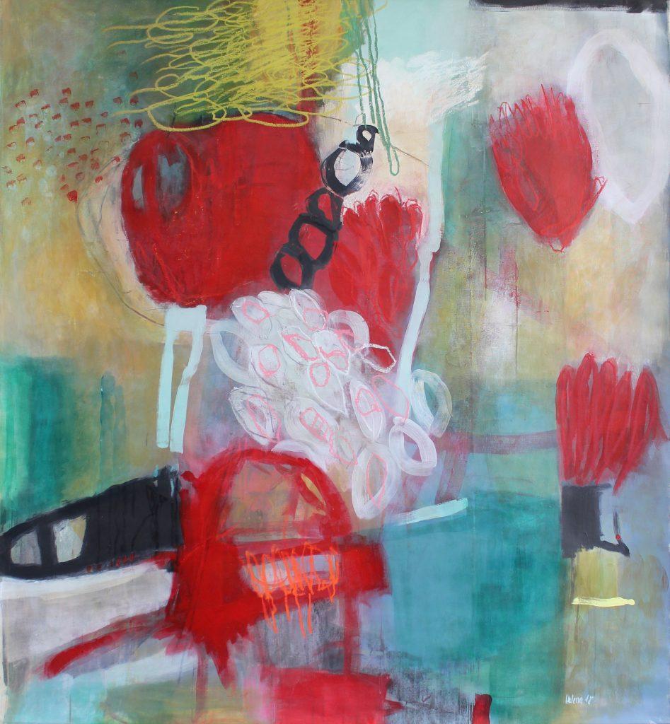 red green garden // garden // 2018 // Öl & Acryl auf Leinwand // 160 x 180