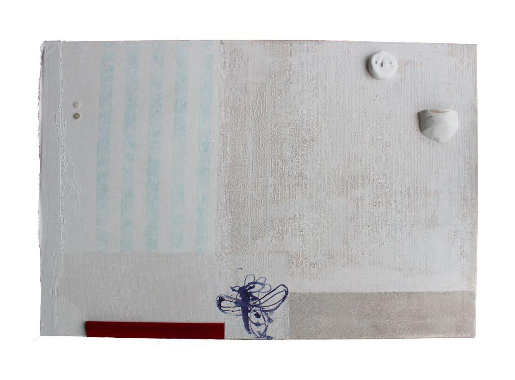 my grandmothers wallpaper – bedroom // sense memory // 2019 // Mixed Media auf Leinwand // 80 x 100
