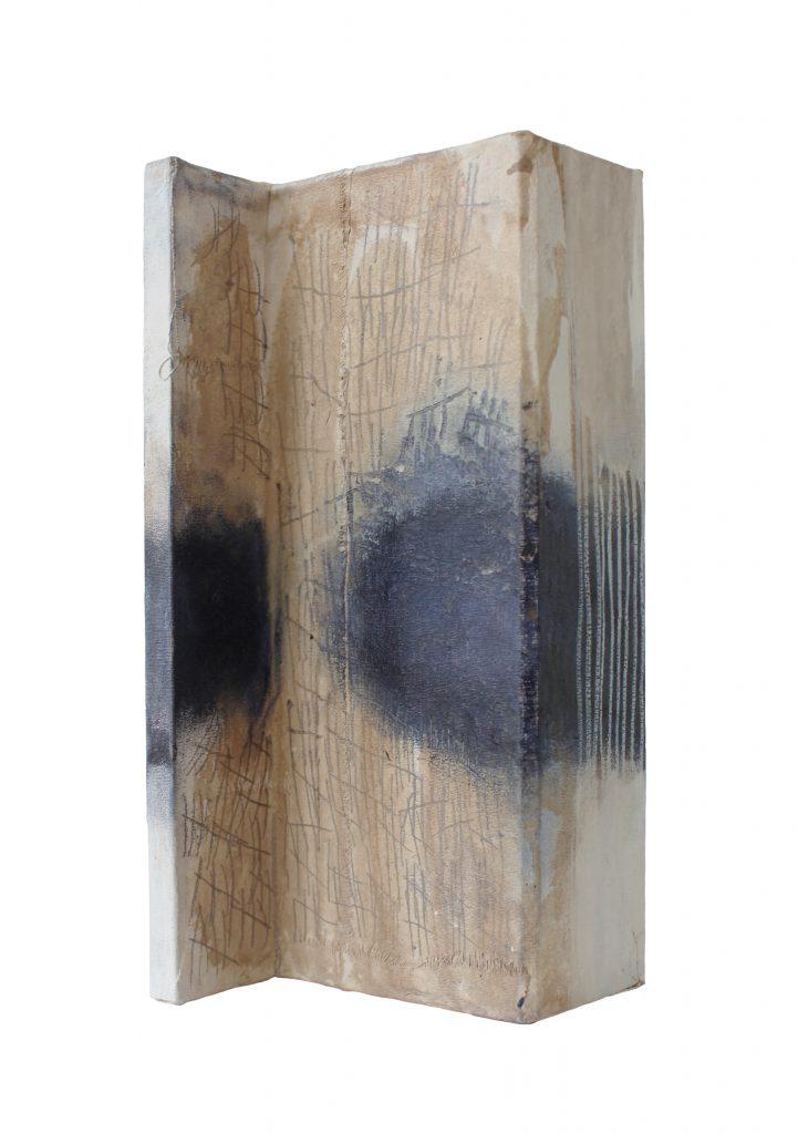 borderline missing things // sense memory // 2018 // Leinen & Öl & Tusche auf Holz // 15 x 25